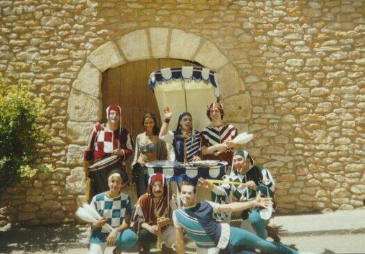 Eu trabalhando para troupe La Cremallera Teatre - 2001 - Espetáculo Cirkatum