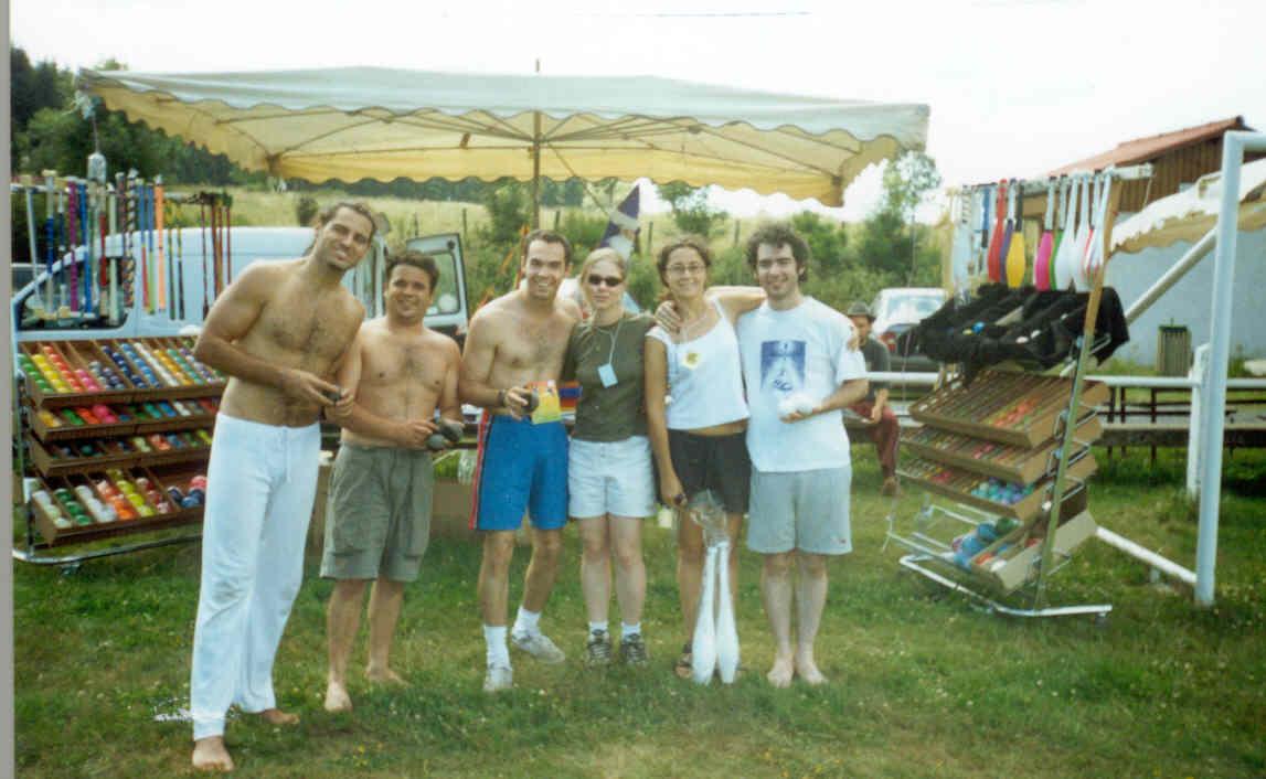 Convenção de Malabares e Circo em Sant Pau (França), julho de 2002.