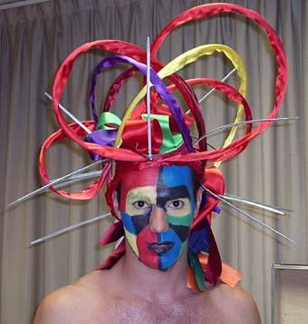 Máscara para o espetáculo Saragatus com a companhia La Cremallera Teatre (Trem - Lleida, 08/04)