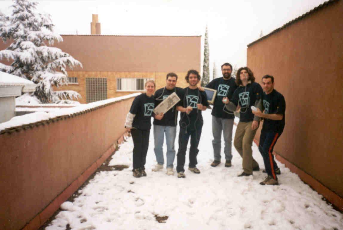 Amigos e fundadores da Associaçao Deporte y Ciencia (Lleida - Espanha - Inverno 2000)