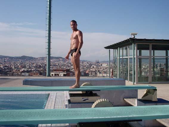 Saltando em Montijuic - Barcelona - Espanha