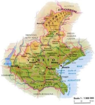 Mapa Região Veneto