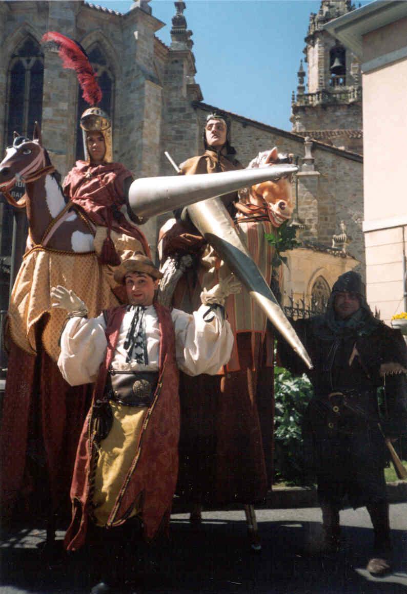 Perna de Pau - Espetáculo Cavalheros Medievais - Valmaceda (Pais Vasco - Espanha) - 2003