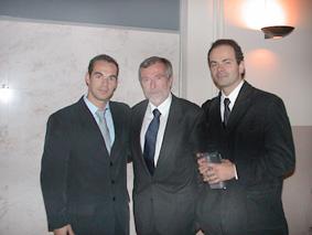 Dr. Bertrand During e Dr. Luc Collard - Seminário Internacional Praxiologia Motriz INEFC Lleida - Espanha - Outubro de 2002