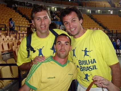 Olimpiadas de Atenas - 2004 com os ex-jogadores da selação brasileira de Volei, Paulão e Carlão