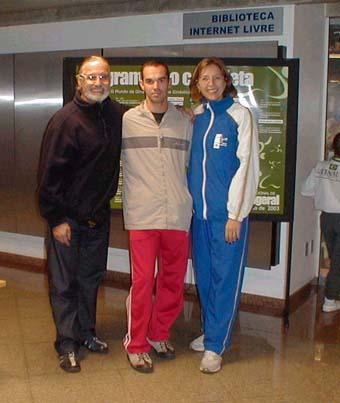 Dr. Jorge Pérez Gallardo e Dra. Elizabeth Paoliello, Fórum Internacional de Ginástica, SESC Campinas, agosto de 2003