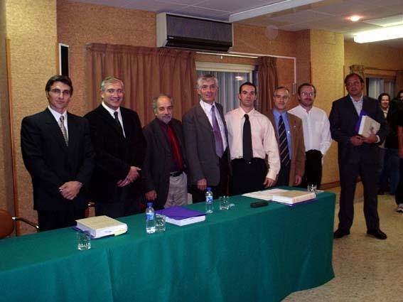 Banca (membros do tribunal) do doutorado (INEFC Lleida, 5-11-04): Dr. Michel Marina (INEFC - Univ. Barcelona), Dr. Fidel Molina (Univ. de Lleida), Dr. Vincenzo Padiglione (Univ. di Roma), Dr. Francisco Lagardera (INEFC - Univ. Lleida), Dr. Pere Lavega( orientador - INEFC Univ. Lleida), Dr. Carles Fexia (orientador - Univ. Lleida), Dr. David Carreras (INEFC - Iniv. Lleida