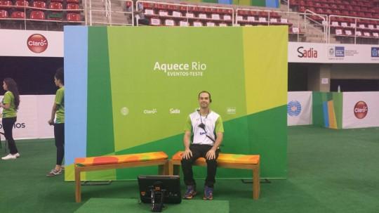 """Participando da organização do """"Aquece Rio Gmnastics Qualifier Test Event"""" abril de 2016 - Rio de Janeiro"""