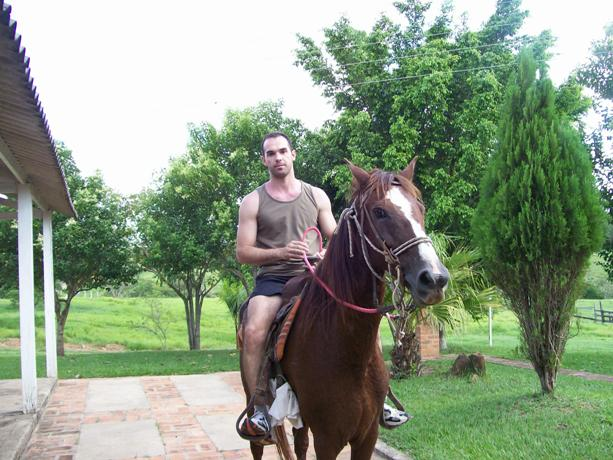 Passeio a cavalo, um hobby.