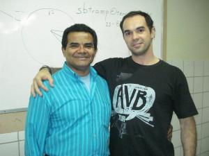 Marco e Prof. Jorge Bezerra (UPE, julho 2009)