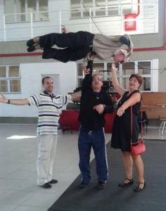 Escola Nacional de Circo - RJ com Leon Schlosser - Edison Silva e Erminia Silva, agosto de 2014