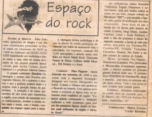 Espaço do Rock - Jornal Liberal 1998