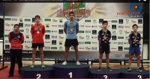 Renan, campeão do Campeonato Brasileiro Infantil de Tênis de Mesa - Fortaleza, maio de 2014