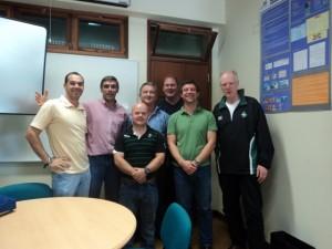 Gabinete FMH - UTL - pessoal da Federação Irlandesa de Rugby set 2010