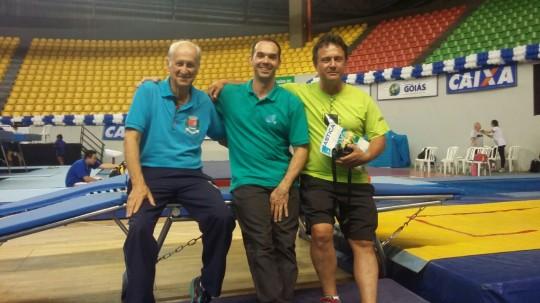 Goiânia 2015 Brasileiro de Trampolim com Rubens Matão e claudio Urbini