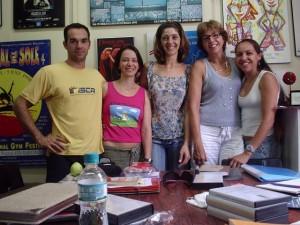 Marco, Dra. Laurita schiavon, Dra. Eliana Ayoub, Dra. Elizabeth Paoliello, Ms. Giovanna Saroa - FEF - UNICAMP, 2005