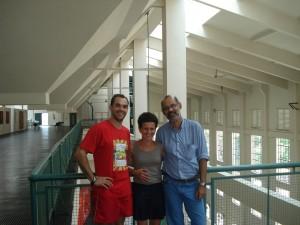 Marco, Vanda Jacques (Intrépida Trupe - RJ) e Marcos Teixeira (FUNARTE) POA 2008