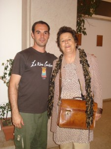 Marco e Teresa - fundadora da escola de circo Chapito - Lisboa 2009