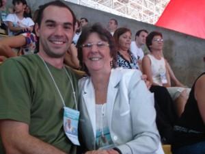 Marco e Vicélia Florenzano (ex-presidente da CBG), Maceió, 2008