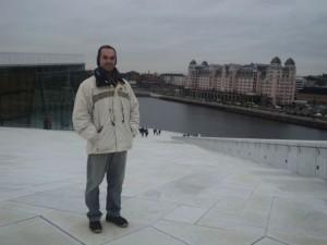 Visita ao edifício da Opera de Oslo (Noruega), nov. 2014