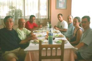 Praxiólogos almoçando em Madrid 2003