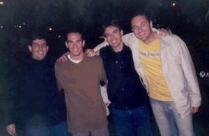 Marcos, eu, Rogério e André - professores da Water Center, 2004
