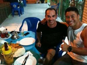 Na companhia do amigo Marcos Tiane - Corumbá - MS, 2013