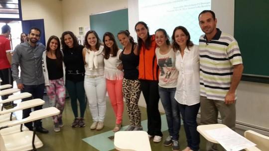Defesa dos TCCs da Gabriela e do Tiago, com a companhia de muitos amigos do GGU e da Profa. Laurita, nov 2015