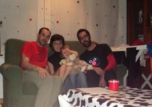 Em A Coruña, com Cristina, Amara e Juan, 2011