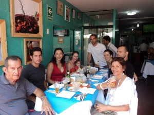 Almoço com a família Cadillo em Lima - Perú, 2013