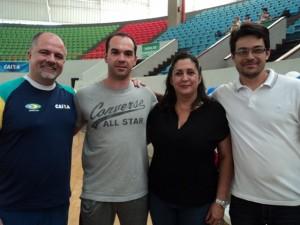 Campeonato Brasileiro de Trampolim 2013 - Goiânia (Marcão, Ana Rita e Christian)