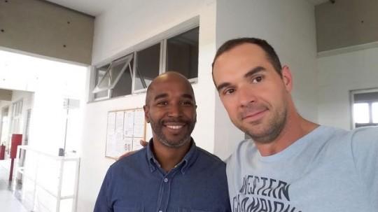 Com Carlos Viana - Diretor da ENC, maio 2015 (Convênio UNICAMP/FUNART/ENC a vista).