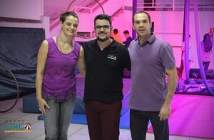 Visita à Escola Mundo Circo em Uberlândia - MG (Daniel proprietário e Rita, professora UFU), setembro 2017