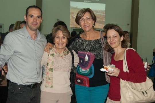 Festa de comemoração dos 30 anos da FEF-UNICAMP - professores de ginástica (Marco, Vilma, Beth e Laurita), agosto, 2015.
