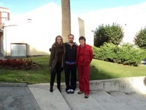 Com as amigas Marta Bobo e Cristina Villar - A Coruña, 2011