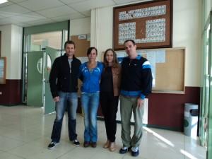 Univ. A Coruña com os Profs. Helena Sierra, Marta Bobo Arce e Luis Morenilla