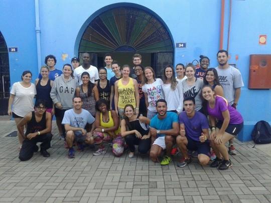 Curso Atividades Circenses - CEUNSP (Itú - SP), abril de 2015