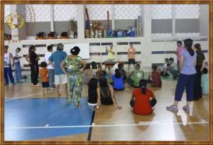 Ministrando o curso: Pedagogia das atividades circenses - UFAM - Manaus - AM, maio de 2014