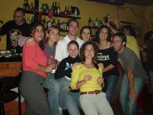 Olga, Malu, Guga, Oscar, Leticia, Silvia, ... na despedida de BCN - 2005 Hospitalet