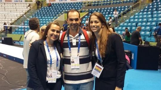 Elaine e Carol - árbitras - Copa do Mundo de GA - Sao Paulo, maio de 2015