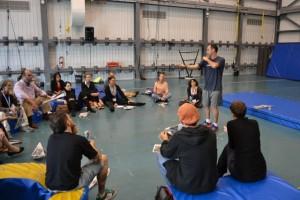 "Workshop ""CIRCUS-UNICAMP: pedagogical tools to teach circus"" - École Nationel Cirque de Montreal - Canadá, set. 2014"