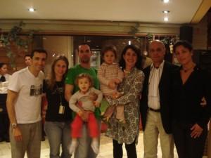 Encef 2009 - Dr. Odilon Roble (esq.) - familia Bortoleto, Profa. Eliana Toledo (USJT), Dr. João Freire e esposa.