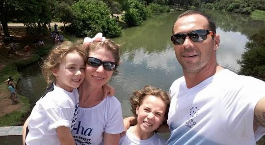 Familia toda no Parque do Ibirapuera, dez. 2015