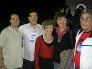 Festival Mundial do Circo 2009 - BH - com Julio Revolledo (México), Luciana (La Arena - Argentina), Erminia Silva e Wladimir.
