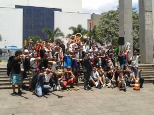 Participando do Fashmob de Maalabares, jan. 2014 Campinas-SP