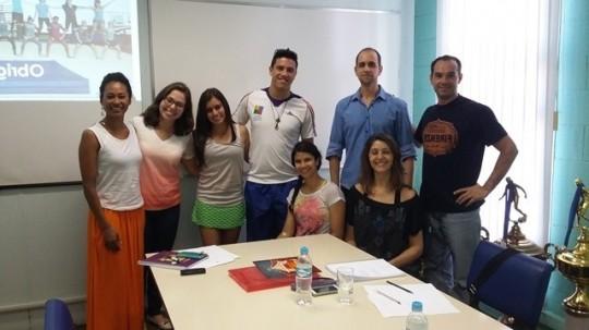 Banca de qualificação de mestrado da Tabata Almeida, com Rafael, Andresa , Nana e amigos do GPG, set. 2015
