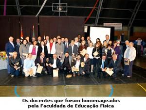 Homenagem aos docentes da FEF - UNICAMP 2008