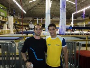 Com o trampolinista Carlos P. Ramirez - Betim - MG, 2011