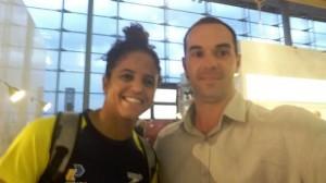 Etiene Medeiro, campeã mundial natação, em 2017