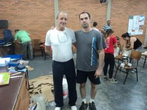 Com o mestre - Prof. Hélio Saconi